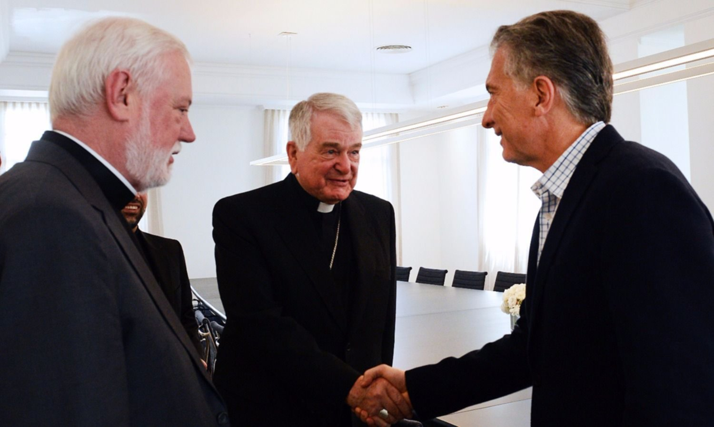 Mauricio Macri recibió al canciller del Vaticano