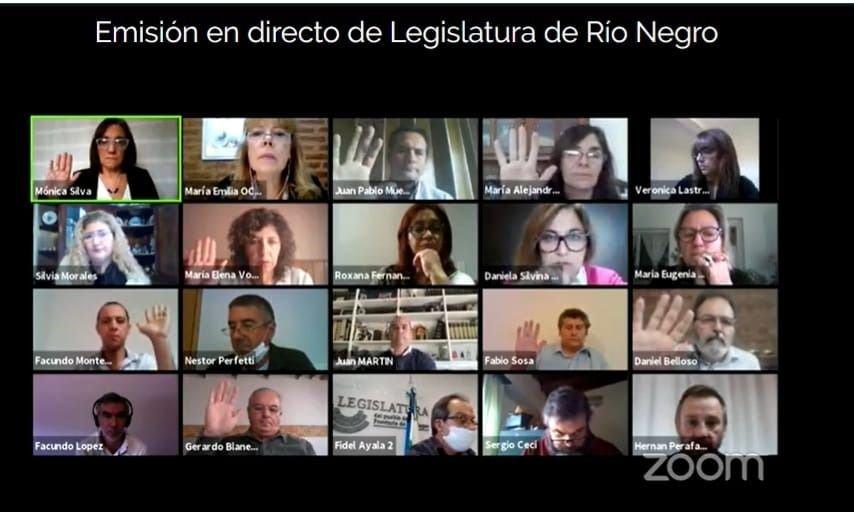 Río Negro: crispada reunión virtual de diputados, que avanzan a una sesión