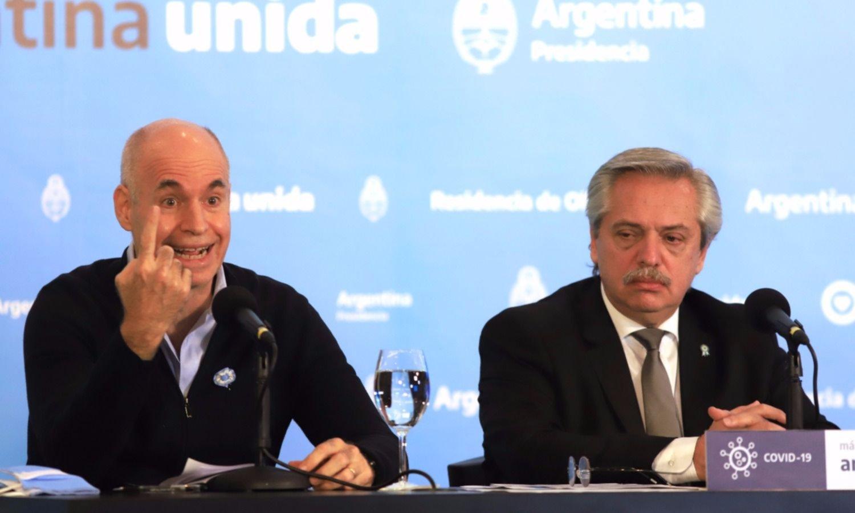 Fernández y Larreta definirán cómo sigue la cuarentena en la Ciudad