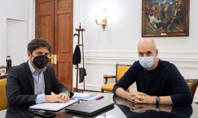 Larreta recibe a Kicillof para empezar a definir la reapertura de la cuarentena