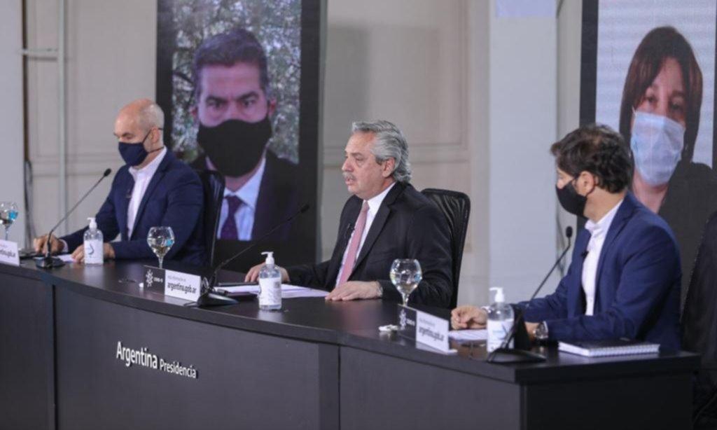 Antes del anuncio, Fernández se reúne con Larreta y Kicillof en Olivos