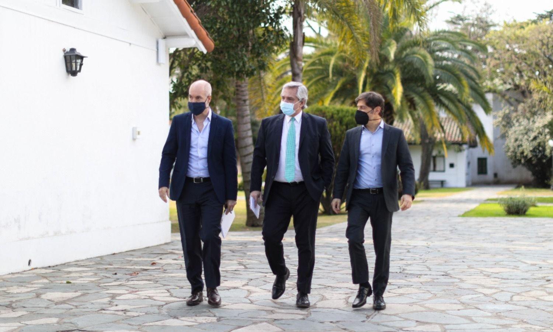 Fernández recibe a Larreta y Kicillof para definir cómo sigue la cuarentena