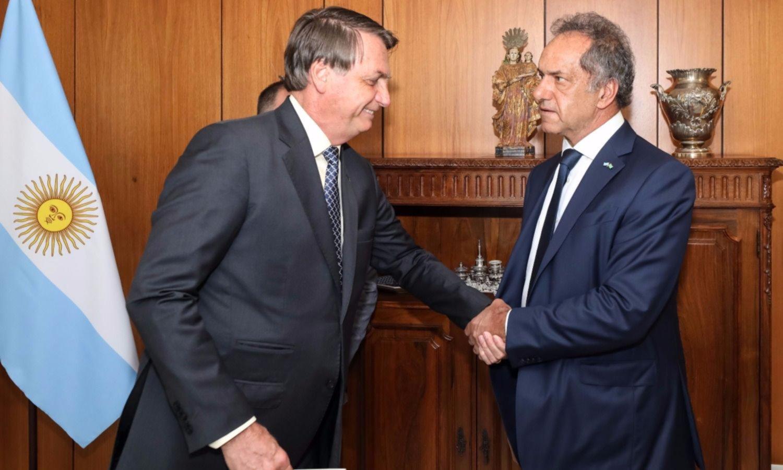 """Tras la reunión con Bolsonaro, Scioli abogó por """"superar los desencuentros"""""""