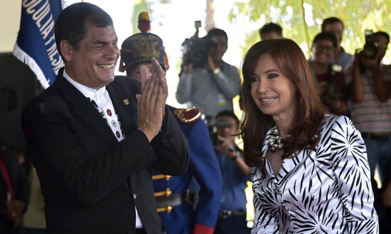 Made in Argentina: a lo CFK, Correa va por la vicepresidencia de Ecuador