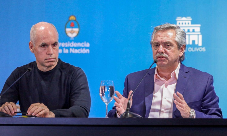 Las curvas inversas de Fernández y Larreta: uno cae y el otro crece