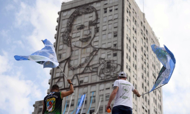 """Moyano y la caravana: """"Queremos trasmitirle el respaldo a nuestro gobierno"""""""