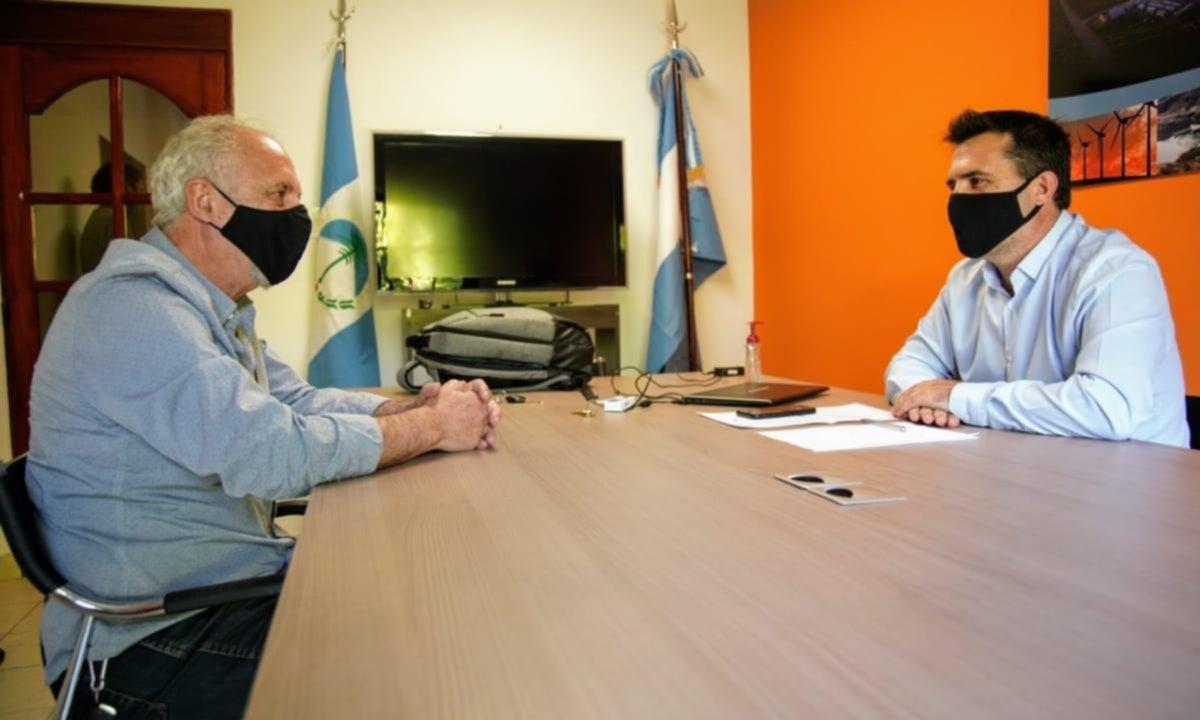 Carnaghi y Martínez, juntos con la agenda energética de fondo