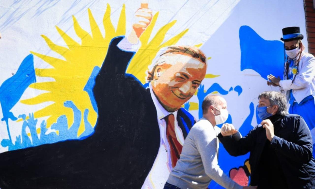 Insaurralde y Máximo K. recordaron a Kirchner en Lomas de Zamora