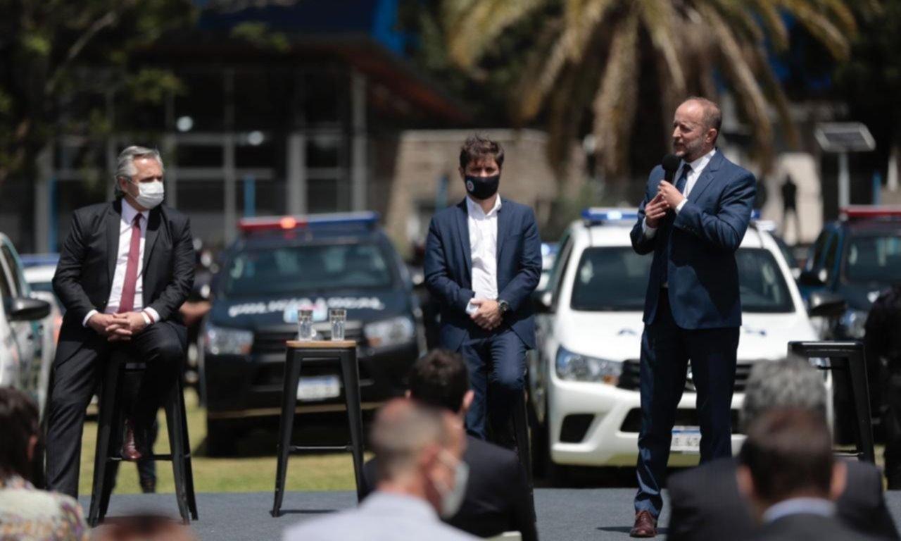 Fernández, Kicillof e Insaurralde lanzaron el nuevo plan de seguridad para Lomas de Zamora