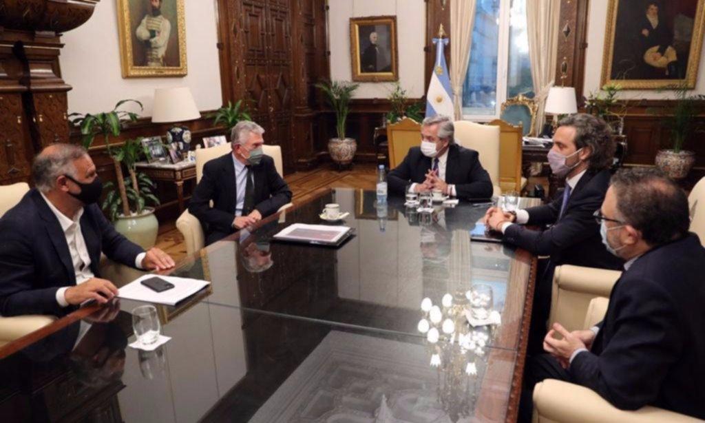 Fernández recibió a representantes de la empresa Newsan